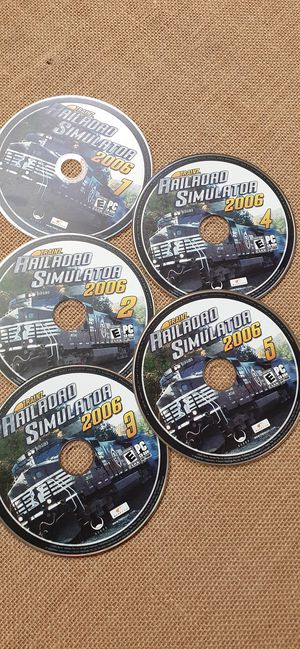$15 Trainz Railroad Simulator 2006 Disc 1 2 3 4 5 PC CD-Rom for Sale in Hemet, CA