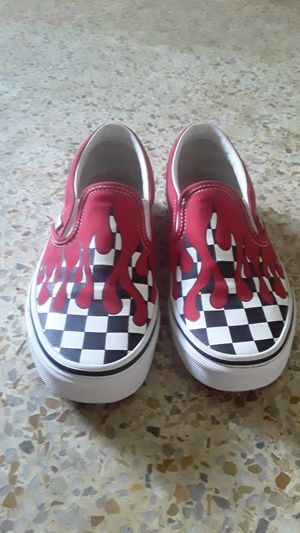 Checkered Van's with red drip for Sale in Gibsonton, FL