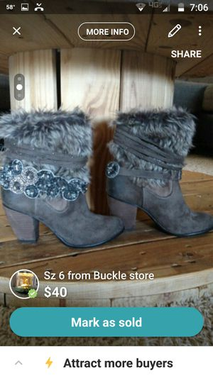 Buckle brand boots so 6.5 for Sale in Prattville, AL