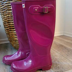 Womens Hunter Rain Boots Size 9. Fuschia, Maroon. $65 OBO for Sale in Chula Vista, CA
