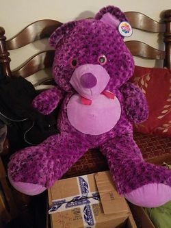 3ft Purple Teddy Bear for Sale in Hawthorne,  NY
