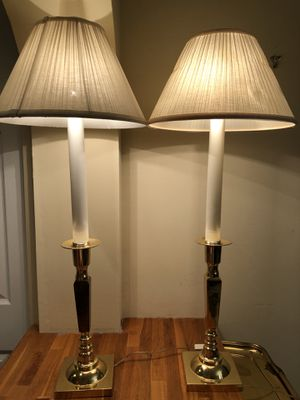White and Gold Lamps for Sale in Fort Lauderdale, FL