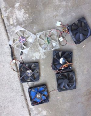 pc fans for desktop computer several sizes 40 mm, 60 mm, 80 mm, 120 mm PC FANS FOR COMPUTER for Sale in Long Beach, CA