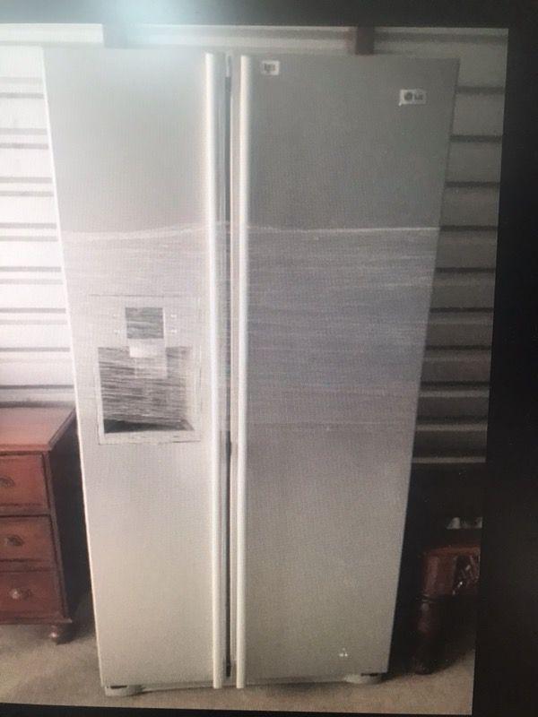 LG side-by-side refrigerator freezer