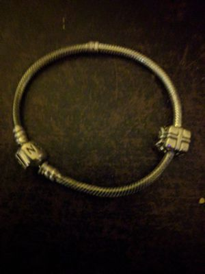 Silver Pandora bracelet with extra charm for Sale in Fox Lake, IL