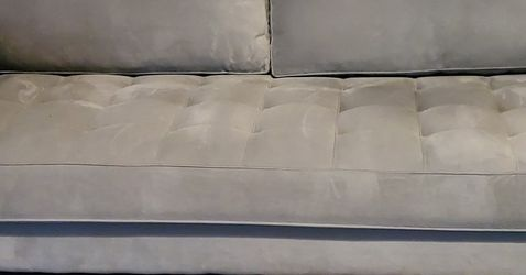 Gray Eva Longoria Couch w Two-Roll Pillows for Sale in Cedar Hill,  TX