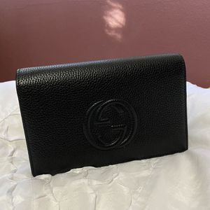 Gucci Soho Wallet on Chain Black Leather Cross Body Bag for Sale in Rosemead, CA