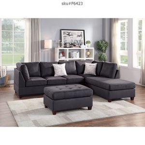 Brand new sectional with ottoman and pillows // for Sale in Miami, FL