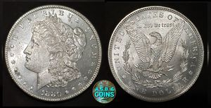 1880-P UNCIRCULATED Morgan silver dollar old US coin for Sale in Anaheim, CA