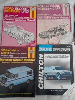 Old car magazines and 4 old repair manuals for Sale in San Jose, CA