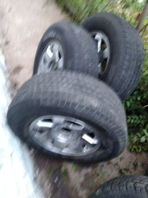 4 99 to 00 cadillac escalade or chevy tahoe 6 lug rims 2657017 rims and tires for Sale in St. Louis, MO