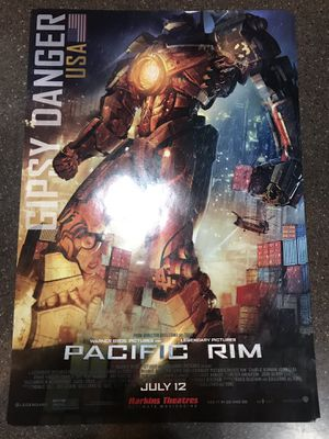 Pacific Rim Movie Poster Theater Giveaway 11X17 for Sale for sale  Mesa, AZ
