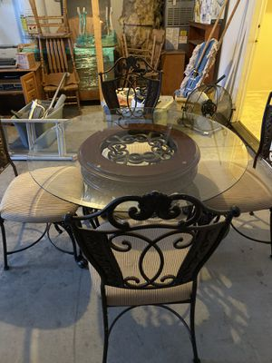 Glass top kitchen table, coffee table and four chairs. for Sale in Yuba City, CA