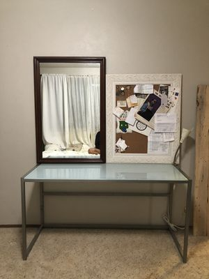Glass top desk / table for Sale in Seattle, WA