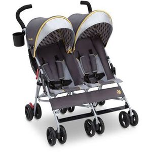 Double Baby Portable Infant Stroller Twin Umbrella Folding Pushchair Infant Safety Travel Grey for Sale in Toledo, OH
