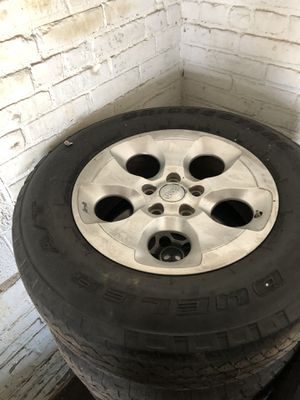 5 Wrangler Wheels with Tires $250 #216 #246 #6200 for Sale in Garfield Heights, OH
