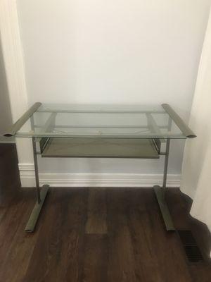 Computer Desk -Glass for Sale in Chicago, IL