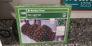 (2) Holiday Time: Net light set 150 bulb set multicolor Christmas decoration for Sale in Gaithersburg, MD