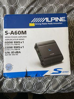 Alpine 2channel amplifier for Sale in Duncan, SC