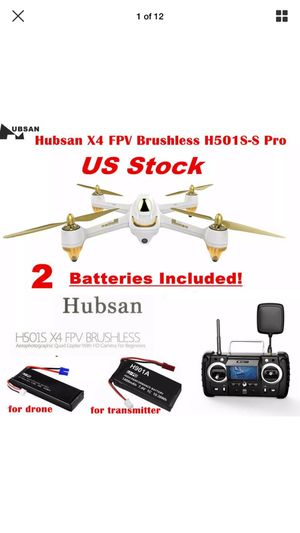Hubsan H501S X4 Pro Drone FPV GPS RC Quadcopter Brushless 1080P HD Camera RTH for Sale in Tacoma, WA