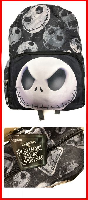 Brand NEW! Disney The Nightmare Before Christmas Backpack Jack Skellington sally work school travel book bag Disneyland Disney world Halloween for Sale in Carson, CA
