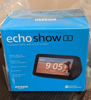 """Brand New Echo Show 5 with 5.5"""" screen (sealed box) for Sale in San Antonio, TX"""