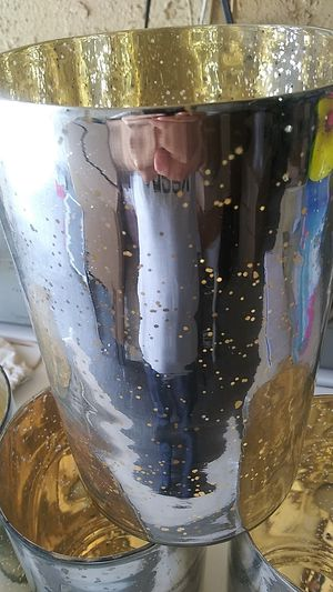 """Flowers vases set:4 pieces color:Gold size:9""""inch for Sale in Bloomington, CA"""