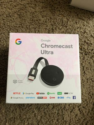 Google chromecast ulta almost new lastest model for 50$ only great deal for Sale in Bellevue, WA