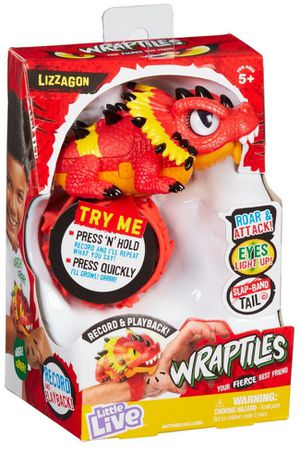 Little Live Pets Wraptiles LIZZAGON Light Up Eyes 25+ Sounds Slap Band for Sale in Aurora, CO