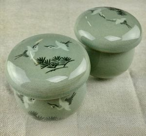 Korean celadon infuser cup/saucer (pair) for Sale in CORP CHRISTI, TX