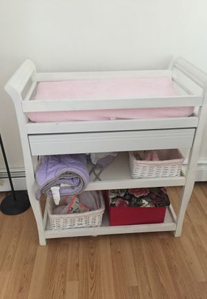 Diaper changing table+mattress included for Sale in Winthrop, MA