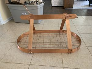 Hanging copper pot rack for Sale in Charlotte, NC