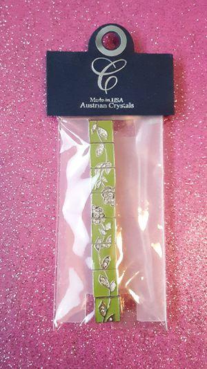 Australian Crystals Bracelet Green 1 pc for Sale in Pasadena, TX