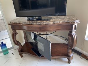 """Console / sofa table 59""""x29""""x41"""" marble top and solid wood for Sale in Miramar, FL"""