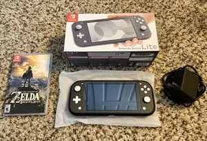 Nintendo Switch Lite Gray + The Legend of Zelda: Breath of the Wild for Sale in Tamarac, FL