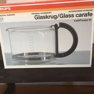 New Krups Glass Carafe - CafePresso 10 036o-42 for Sale in Washington, DC