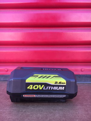 40-Volt Lithium-Ion 2.6 Ah High Capacity Battery for Sale in Redlands, CA