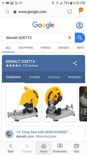 Dewalt table saw for Sale in Charlotte, NC