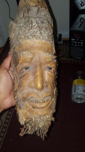 Handmade Wooden Tiki Head - $10 for Sale in Gaithersburg, MD