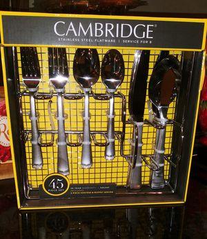 Cambridge 45pc Flatware Set.... W/ Bonus Buffet Sever for Sale in Sacramento, CA