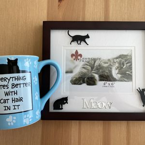 Cat Frame And Mug for Sale in Seattle, WA