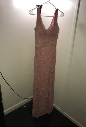 Like new pink rose gold dress for sale for Sale in Richmond, CA