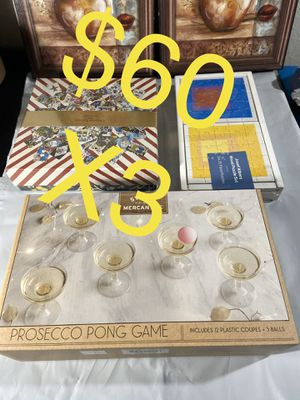 3 game board special pack pong game 25 pcs puzzles 250 pcs puzzles for Sale in Houston, TX