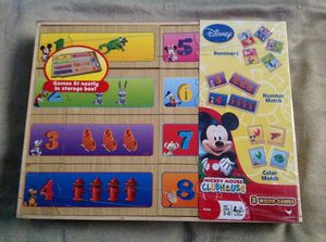 New Disney's Mickey Mouse 3 wood puzzle play games for Sale in Los Angeles, CA