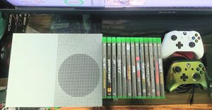 Xbox one s slim 500gb HD with 13 games and 2 controllers for sale for Sale in Los Angeles, CA
