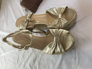 Talbots 6.5 gold wedges 4in high for Sale in Austin, TX