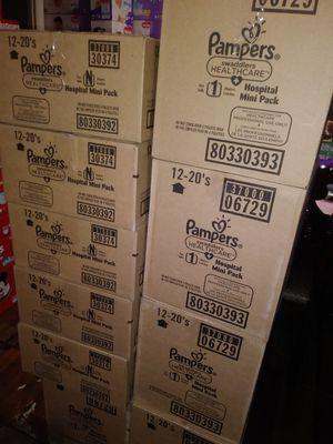 Pampers swaddlers Newborn caja de 240 diapers $ 45 por caja oh cambio por formula Enfamil 12 0z for Sale in Los Angeles, CA