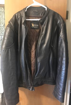XElement leather motorcycle jacket. Dark Brown XXL for Sale in Austin, TX