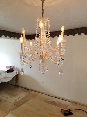 Beautiful crystal chandelier..remodeling. for Sale in Freedom, PA