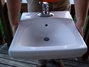 Wall Mount Bathroom Sink (white) for Sale in S WILLIAMSPOR, PA